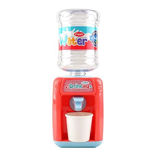 Mini-Wasserspender Spielzeug für Kinder 3 Jahre alt und älter, DIY Kunststoff kleine Wasserspender mit Wasser-Eimer, Papier-Tasse, angetrieben von 2xAA Batterien (Nicht im Lieferumfang enthalten)