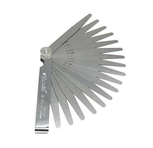 隙間ゲージ シックネスゲージ 丈夫でさびにくい ステンレス製 充実の17枚 100mm THI100-1