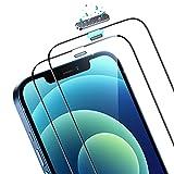 ESR 2 Unidades Protector de Pantalla Compatible con iPhone 12/12 Pro, Protector con Altavoz Integrado, Soporta 50 KG de Fuerza, 3D Cobertura Completa Cristal Templado, Sin Burbujas