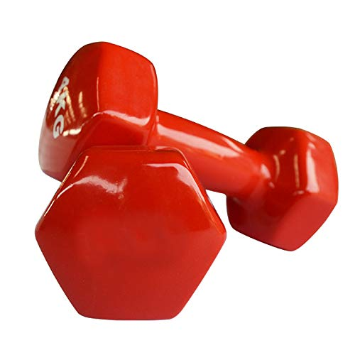 Color Hexagonal Fitness Dumbbell Dipped Plastic Ladies Children Fitness Dumbbell Fitness Equipment Small Dumbbel,0.5Kg*2
