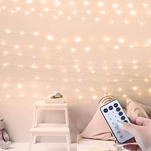 Minetom USB Fairy Lights with Power Adaptor and Remote, 66Ft 200LED Waterproof Twinkle Lights with 8 Lighting Modes and Timer Function for Craft Bedroom Ceiling Wedding Christmas