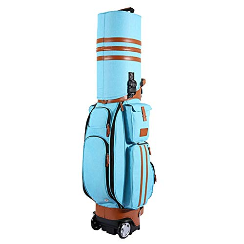 Best Bargain DERTHWER Golf Stand Bag Unisex Golf Travel Bag Waterproof PU Golf Multi-Function Bag Av...