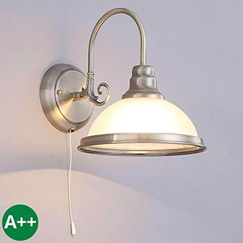 Lindby Wandleuchte, Wandlampe Innen 'Alicia' dimmbar (Retro, Vintage, Antik) aus Glas u.a. für Wohnzimmer & Esszimmer (1 flammig, E27, A++) - Wandstrahler, Wandbeleuchtung Schlafzimmer /