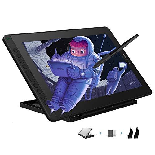 HUION Kamvas 16 2021 Grafiktablett mit Bildschirm (schwarz), 15,6-Zoll-Zeichnungsmonitor mit voller Laminierung, Verstellbarer Ständer, ideal für die Arbeit von zu Hause aus und für Fernunterricht