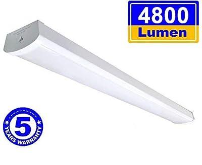 Linkable LED Wraparound Flushmount Light 4ft,LED Shop Light for Garage - 4000 Lumens 5000K, ETL and Energy Star Certified,LED Linear Indoor Lights, LED Ceiling Light
