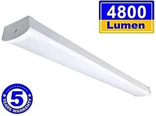 Linkable LED Wraparound Flushmount Light 4ft,LED Shop Light for Garage 4000 Lumens 5000K, ETL and Energy Star Certified,LED Linear Indoor Lights, LED Ceiling Light, 50K1PK