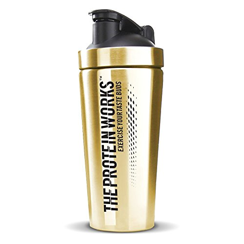 The Protein Works Black n Gold Protein Shaker, Wasserflasche, 700 ml