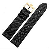 18mm 20mm Genuine Leather Watch Band Strap Buckle for Vacheron Constantin Watch (18mm, Black(Gold Buckle)) -  Richie strap