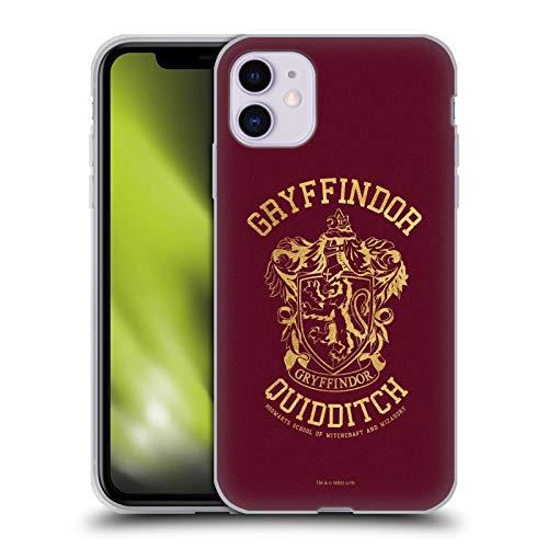 Head Case Designs Licenciado Oficialmente Harry Potter Gryffindor Quidditch Deathly Hallows X Carcasa de Gel de Silicona Compatible con Apple iPhone 11