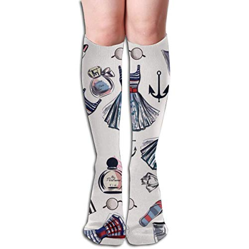 Ccsoixu Fashionable Perfume Bag Design for Women's Wear 50 Full Comfort Knee High Socks Cotton Long Knee High Socks