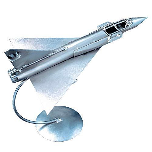 Boystoys HK Design - Mirage 2000 Flugzeugmodell Kampfjet - Metall Art Geschenkideen Deko Düsenjet - hochwertige Original Schraubenmännchen Modell-Flugzeuge handgefertigt