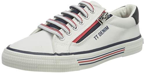 TOM TAILOR Damen 1195301 Sneaker, White, 39 EU