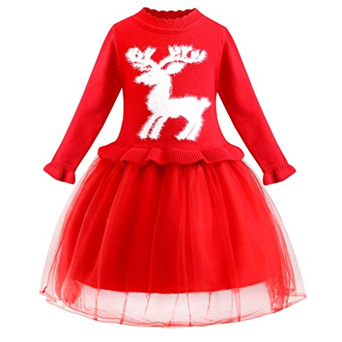 Vectry Navidad Vestido De Niñas Princesa Vestido Niñas Vestido De Princesa De Boda De Fiesta De Punto De Navidad De Ciervos De Navidad De Punto De Tul Outfits Vestido De Tutú Flores Cumpleaños