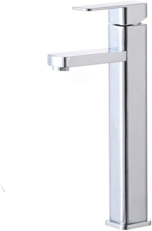Copper Copper Body Mixer Faucet Hand Wash Basin Single Handle Single Hole Square Lift Faucet