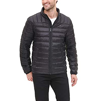Tommy Hilfiger Men's Packable Down Jacket (Regular and Big & Tall Sizes), Black, Large from Tommy Hilfiger Men's Outerwear