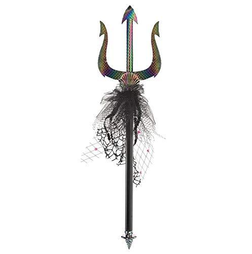 shoperama Dreizack Trident Meerjungfrau Sirene Nixe Dämonin Kostüm-Zubehör Accessoire Schuppen Waffe Poseidon Neptun Wassermann