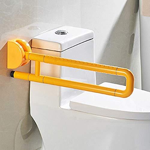 Badkamerleuningen, oude wastafels, handwas, antislip, veiligheidsgreep, weegschaal tegen vallen Double pole Geel