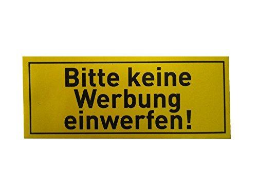 Home Xpert Set van 4 stickers Gelieve geen reclame in te werpen! 5 cm x 2 cm, brievenbus sticker in geel, tekst zwart