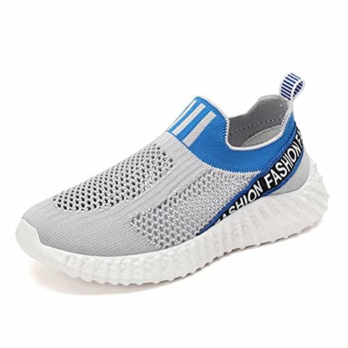 Zapatillas Deportivas para Niño Transpirables Niña Aire Libre Running Súper Ligeras Sneakers Ligeras Antideslizante Cómodas Gris 39
