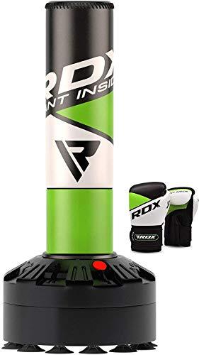 RDX Freistehender Boxsack 4ft Kinder Standboxsäcke mit Trainingshandschuhe, Boxen, MMA, Kickboxen, Kampfsport, Muay Thai, Boxpartner, Punchingsäcke, Boxtrainer Tumbler boxsäcke mit Saugfuß (MEHRWEG)