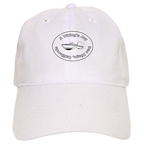 CafePress Cap Grady White Baseball Cap with Adjustable Closure, Unique Printed Baseball Hat