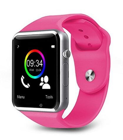 Ohmygod85 A1 Smart Watch W8 Bluetooth Wrist Watch Phone Mate SIM GSM with Camera for Android Phones (Pink)