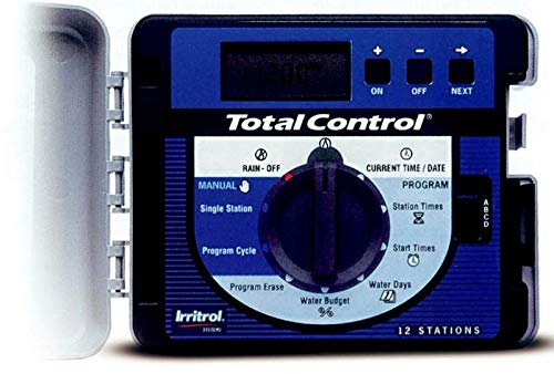 Irritrol 653015 Programador Total Control 15 Estaciones Digital 4 Programas Independientes, 220Vac x 24Vac