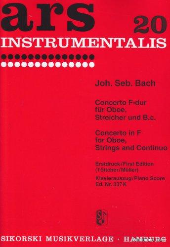 Partitions classique SIKORSKI BACH J. S. - KONZERT F-DUR NACH BWV 1053 - HAUTBOIS ET PIANO Hautbois