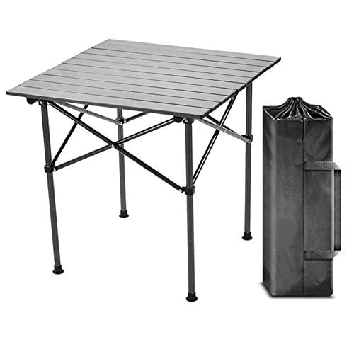 SUPERFIVE Mesa de camping plegable, ligera, resistente a la intemperie, mesa de...