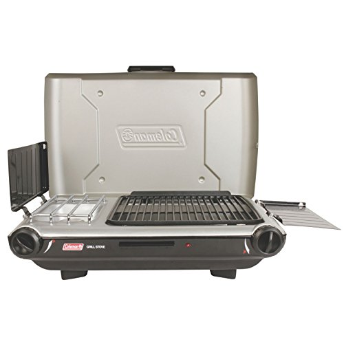 Coleman Gas Camping Grill/Stove | Tabletop Propane 2-in-1 Grill/Stove, 2 Burner