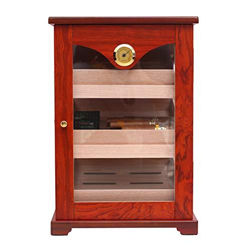 N \ A Mit Zedernholz ausgekleideter Zigarren-Humidor-Luftbefeuchter, Zigarren-Aufbewahrungsbox mit Hygrometer und Feuchtigkeitsmesser-Feuchtigkeitsvorrichtung für 100 Zigarren