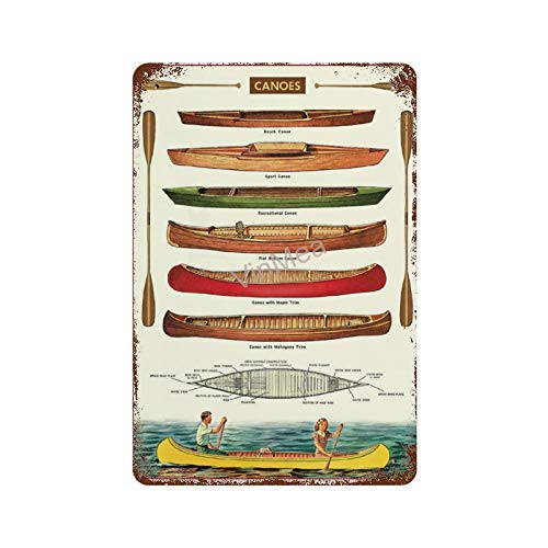 Tin Painting Beer Canoes Beach Canoe Sport Canoe Recreational Canoe Iron Poster...