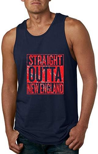 Wild Bobby Straight Outta New England NE Fan Fantasy Football Mens Sports Graphic Tank Top Navy product image