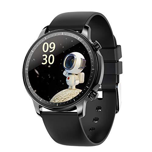 Leeofty V23 Pulsera Inteligente Reloj Deportivo Pantalla IPS de 1,28 Pulgadas BT5.0 Rastreador de Actividad física IP67 Monitor de sueño / frecuencia cardíaca / presión Arterial a Prueba de Agua