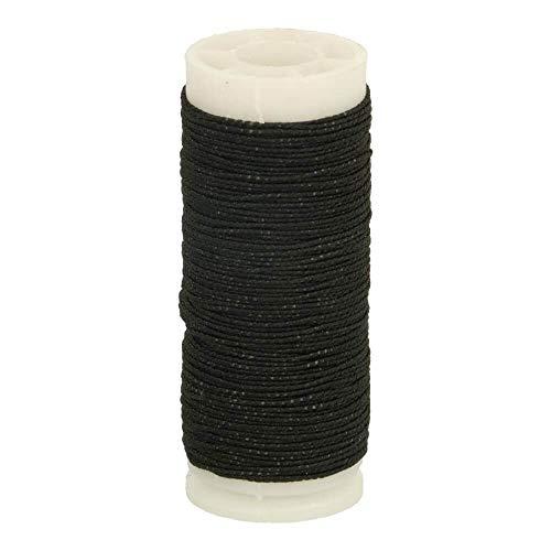 Gründl - Hilo de coser flexible, bobina de 20 metros de alto, color negro y hilo elástico de Gründl, bobina de 20 metros, color negro