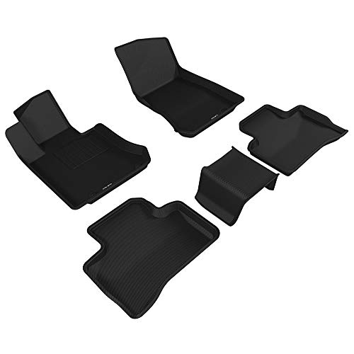 3D MAXpider L1MB07901509 Complete Set Custom Fit All-Weather Floor Mat for Select Mercedes-Benz GLC-Class (X205) Models - Kagu Rubber (Black)