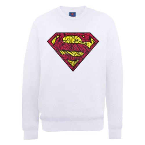 DC Comics - Sweat-shirt - Col ras du cou - Manches longues Homme, Blanc (Weiß - Weiß), Medium