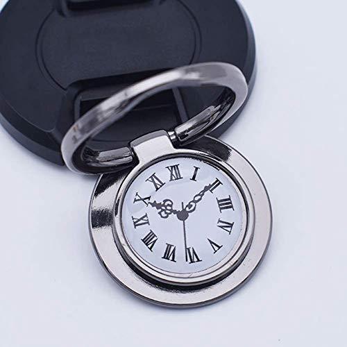 Mini Office Depot 360° Universal Uhr Design Ringfinger Halter Ständer Griff für Telefon Samsung(Schwarz)