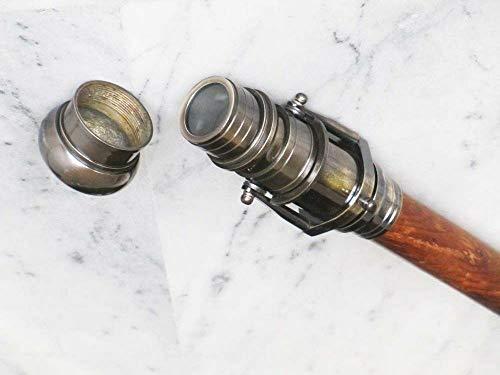 """Generic Bastón de bastón con Mango de telescopio Antiguo Negro Estilo Victoriano de 38""""de Largo ⭐"""