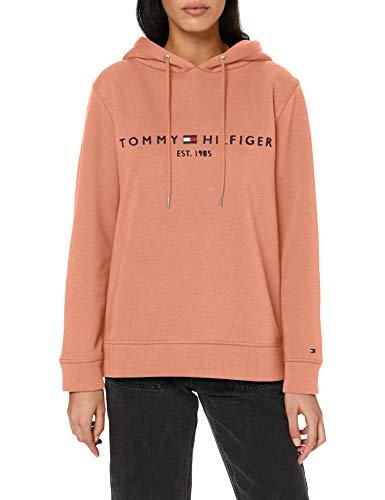 Tommy Hilfiger Damen Th ESS Hilfiger Hoodie Ls Pullover, Clay Pink, XL