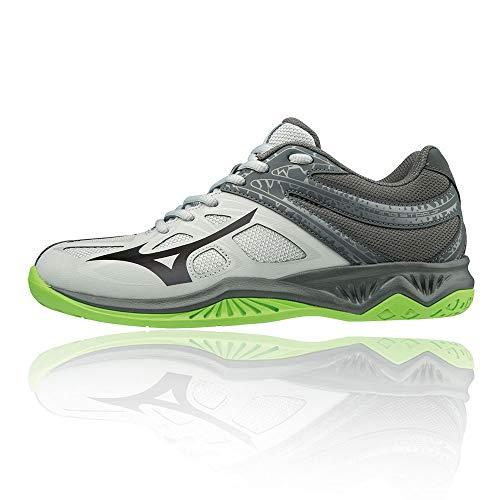 Mizuno Lightning Star Z5 Jr, Zapatillas de Voleibol, Unisex niños, Gris (High Rise/Black/Green Gecko 37), 32.5 EU