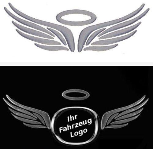 3D Chrom Aufkleber Auto Car Sticker selbstklebend Angel Wings Flügel 3D