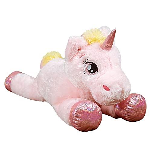 Dehcye 45-120cm Kawaii Unicorn Plushie Stuffed Animal Crossing Toys Soft Big Horse Skin Pillow Cushion Birthday Gift for Girl Kids 100CM Stuffedunicorn