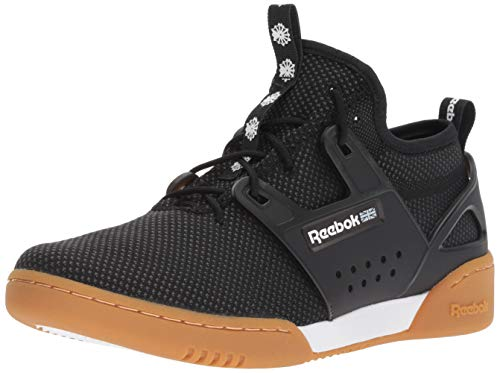 Reebok Men's Workout Advance Ultraknit Cross Trainer, Orange-Black/White/Gum, 8.5 M US