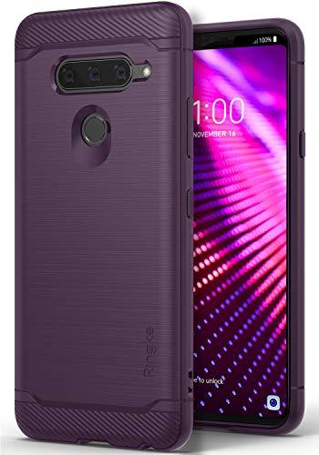 Ringke Onyx Kompatibel mit LG V40 ThinQ Hülle Starker Schlagfast Verteidigung Kratzfest Cover Panzer Handyhülle Hülle Flexibel Anti Rutsch TPU Schutzhülle für V 40 ThinQ (2018) - Lilac Purple Lila