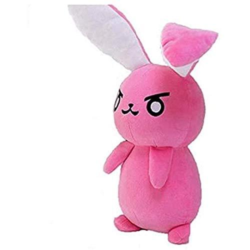Ggwdta Juego Overwatch Pink DVA Bunny Peluche de Juguete para niños Suave DVA Almohada Sofá Cojín Juguete Cosplay Regalo 53cm 1 Pieza