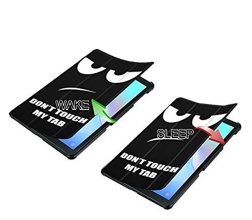 Slabo Tablet Hülle Case für Samsung Galaxy Tab A 10.5 SM-T590 | T595 (2018) Schutzhülle Sleep Wake und Magnetverschluss - Don't Touch My Tab
