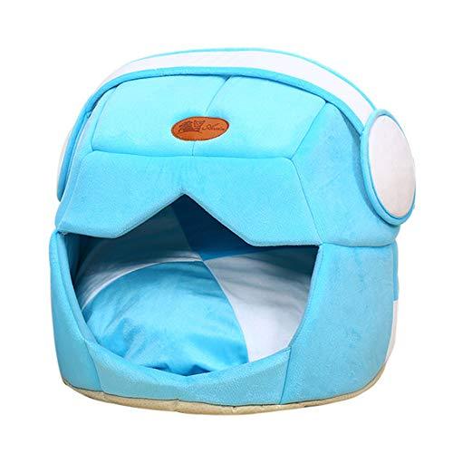 Bling Hundebett Tierbett,Haustier-Nest, Gemütlich Ultra Soft Cat Hundebett geschlossen Faltbare Maschinenwäsche besten Pet Supplies,Blau,L
