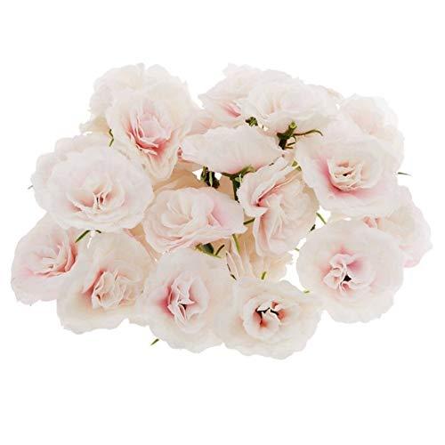 50 Piezas De Seda Artificial Rosas Cabeza Flor Cabeza La Boda del Partido De La Decoración A Granel - Rosa Flor artificia (Color : Pink)