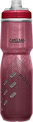 CamelBak Podium Chill Insulated Bike Water Bottle - Squeeze Bottle - 24oz, Burgundy Perforated